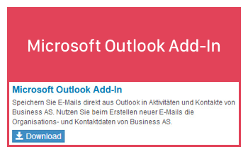 Business AS Outlook Add-In
